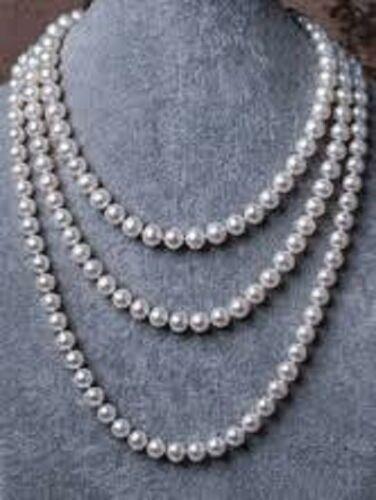 Classic Elegant Style Details about  /Pearl Necklace 5 Feet Long Women Uniformed White Round