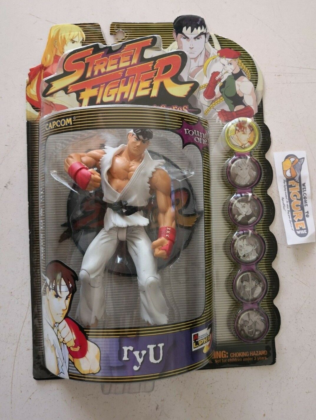Capcom's STREET FIGHTER Alpha Zero3 Round 1,Player 1 RYU action figure, ReSaurus