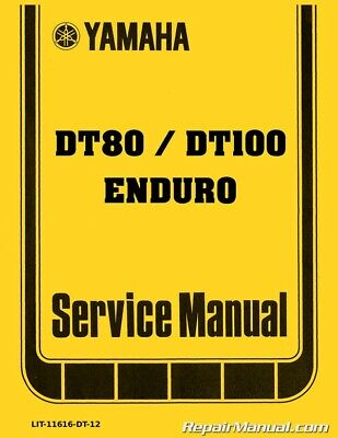 1977 - 1983 Yamaha DT80 GT80 GTMXE DT100 Motorcycle Service Manual Online Wiring Diagram Yamaha Dt on