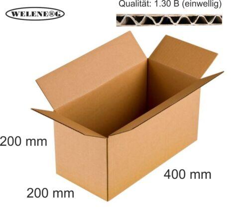 BRAUN 80 Faltkartons 400x200x200mm B-410g//m2  Versandkarton Falt Kartons
