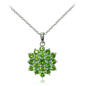 Sterling-Silver-Peridot-Flower-Necklace