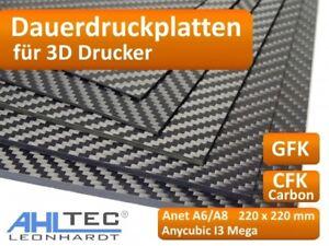 3D Drucker Dauerdruckplat<wbr/>te für Anet 220 x 220mm Anycubic - ABS PLA PETG HIPS  .