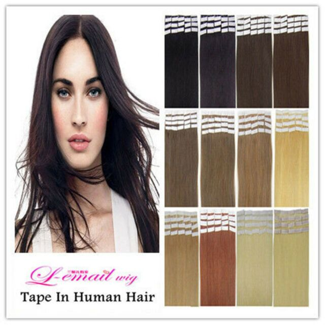 100% Indian Remy Human Hair Extensions PU Tape in Fashion hair piece 40pcs/100g