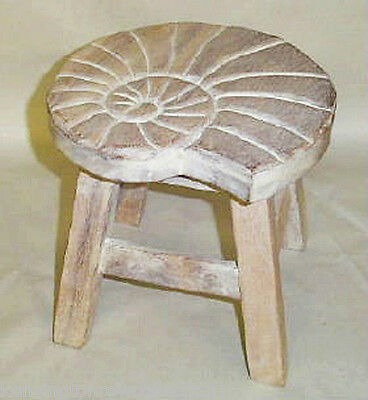 Outstanding Footstools Nautilus Shell Wooden Footstool White Wash Finish Foot Stool 36663881861 Ebay Gmtry Best Dining Table And Chair Ideas Images Gmtryco