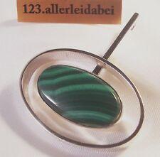 N.E.From Dänemark Anhänger mit Malachit Silber Erik Nils old pendant / XX 656