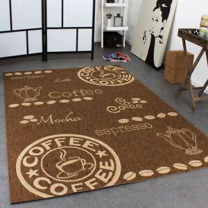 Dettagli su Tappeto cucina marrone Tappeto Piatto Tessere Tappeto Moderno  Caffè Design Stuoie di facile pulizia tappeti- mostra il titolo originale