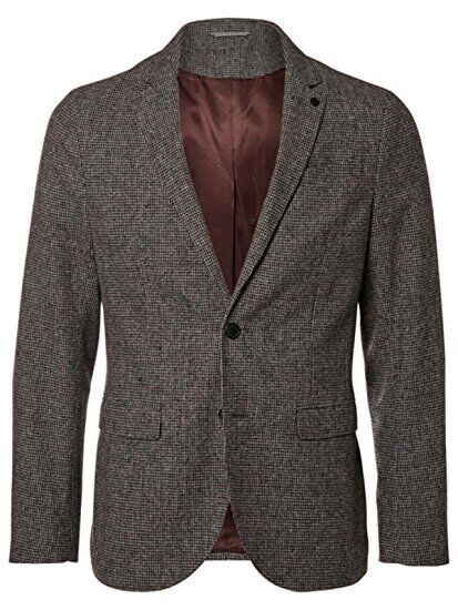 SELECTED HOMME - NEW - Micro Dogtooth Anton Wool Blend Grau Blazer - Chest 44