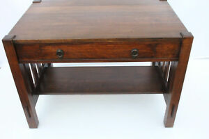 Image Is Loading Charming Mission Quarter Sawn Oak Desk Writing Table