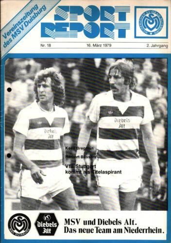 Herbert Büssers VfB Stuttgart 16.03.1979 BL 78/79 MSV Duisburg