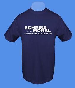 Maenner-Herren-T-Shirt-Scheiss-Moral-fuck-C-Ware-move2be-M-navy-dunkelblau