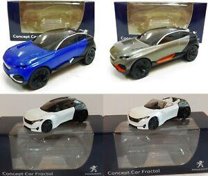 Conjunto-de-4-Peugeot-Concept-Car-fractal-3-034-pulgadas-Norev-1-64-Modelo-Hotwheels-Toys