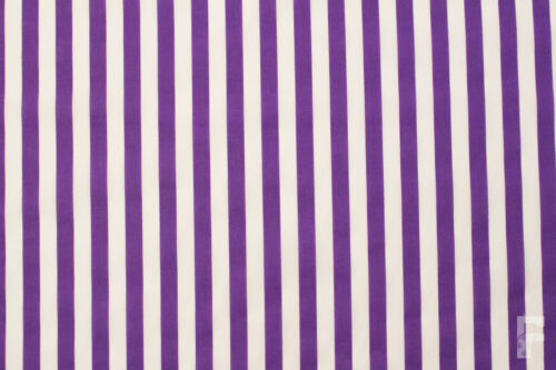 12 mm STRIPES ON PRINTED POLY COTTON FABRIC WIDTH 114 CM