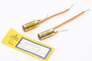 1 μF//63 V NOS 2x Vintage MKM Condenser from Siemens /& Halske Type B32991