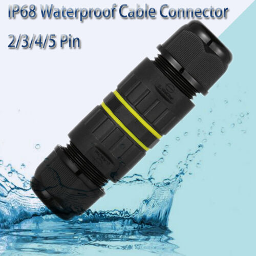 Junction Box  Wiring Waterproof Cable Connector IP68  M16 M20 M25 2//3//4//5 Pin