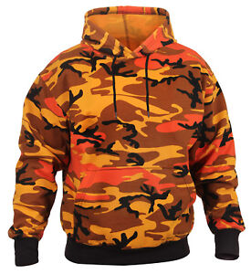 A Pull Camo Sur Camouflage Capuche 3690 Hommes Over Orange Rothco Détails Sweat Sweatshirt 1KJcTlF3