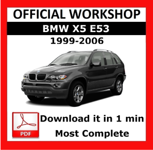 official workshop manual service repair bmw series x5 e53 1999 rh ebay com 2015 BMW X5 xDrive35i 2019 BMW X5
