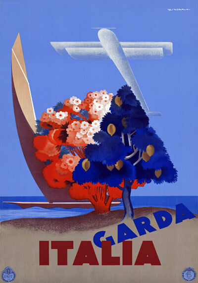 TR2 Vintage 1935 Italian Lake Garda Italy Travel Poster Re-Print A4