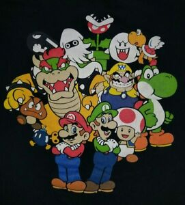 XL-Super-Mario-Bros-T-shirt-Punk-Rock-Retro-Gamer-Nintendo-Video-Game-NES-Yoshi
