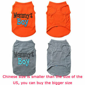 Pet-Dog-Clothes-for-Puppy-Vest-Soft-Mommy-039-s-Boy-T-shirt-Summer-Fashion-Letter-US