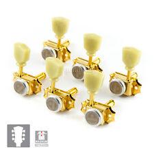 NEW Gotoh SD90-SL MGT MAGNUM LOCKING TRAD Tuners L3+R3 w/ screws 3x3 - GOLD