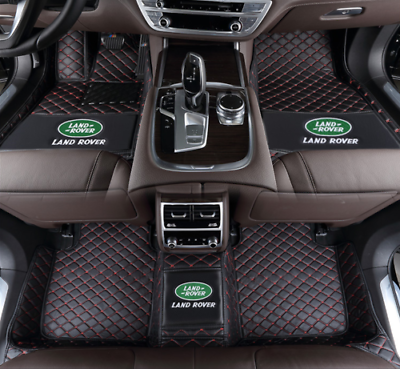 Car Floor Mat for Range Rover Sport 5seat 2014-2019 All Full Coverage Liner All Weather Waterpoof Non-Slip Leather Heavy Duty Custom Front Rear Mat Left Drive Black