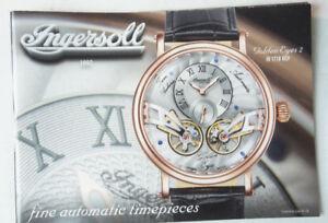Ingersoll Automatic Timepieces Since 1892 Chronograph Katalog 36 Seiten B11156 Mit Dem Besten Service