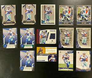 Tony-Pollard-2019-Rookie-Lot-14-Cards-Inserts-Jersey-Patch-SP-Dallas-Cowboys-RC