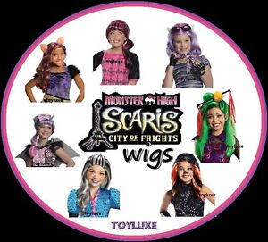 Monster-High-SCARIS-WIG-Halloween-Costume-Dress-Up-Hair-Play-Head-Wear-Child-NEW