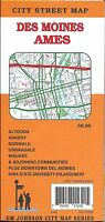 City Street Map Of Des Moines & Ames, Iowa, By Gmj Maps
