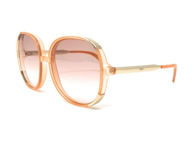 fd06c72c262e CHLOE Sunglasses CE712S 749 Peach Round Women s 61x18x140
