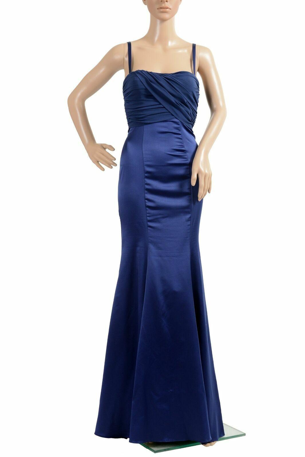 Just Cavalli Damen Seide Marineblau Maxi Kleid Us 2