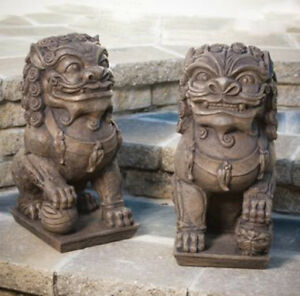 20 Quot Large Foo Dogs Pair Outdoor Concrete Garden Statue