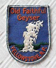 Yellowstone National Park Souvenir Patch - Old Faithful