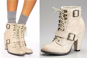 Details About Seychelles Shoes Romance Lace Up Booties Ankle Boots Heels Mushroom Leather 8