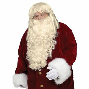 Super Deluxe Santa Claus Wig and Beard Set Profesional Costume Accessory  Facial 71196324d