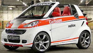 Carlsson-Alufelgen-smart-fortwo-451-Revo-silber-Titanium-Sommerreifen-Hankook