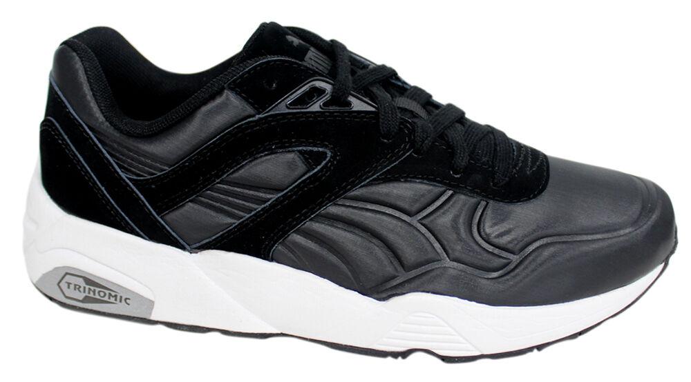 Puma Trinomic R698 Matt & Shine Black Mens Lace Up Trainers 359305 02 P
