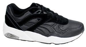 Puma Trinomic R698 Matt   Shine Black Mens Lace Up Trainers 359305 ... 7a41480da2