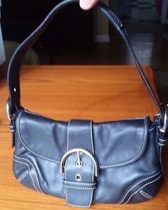 52bbb3896c Image is loading Coach-Authentic-Classic-Black-Soho-Buckle-Flap-Leather-