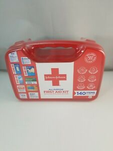 Johnson and Johnson Emergency First Aid Kit Portable For Home Travel Car 140 pc