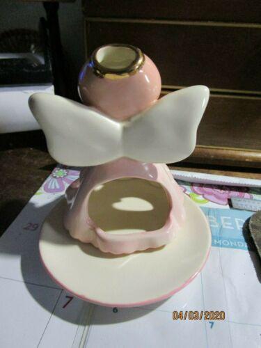 Angel Cheeks Pink Angel Figure Russ Berrie Kirk's Kritters Votive Candle Holder