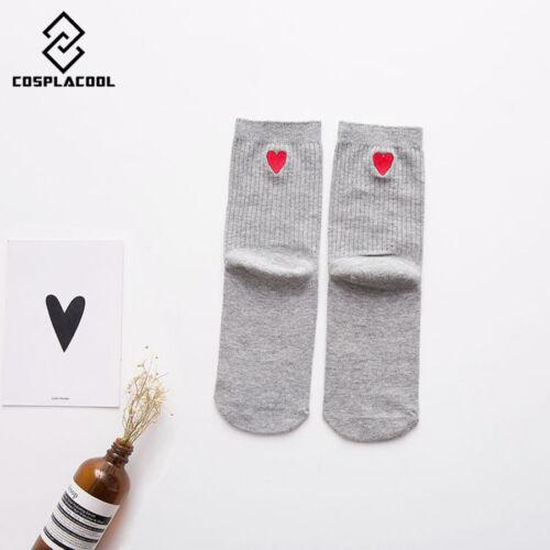 Embroidery Love Envelope Cotton Korean Harajuku Fashion Socks Women socks