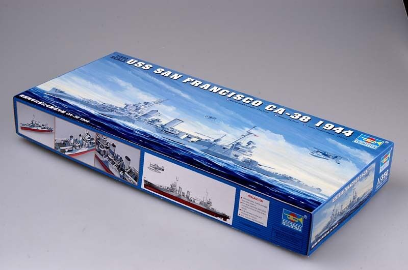 Trumpeter USS SAN FRANCISCO Cruiser CA-38 1944 Warship Boat Model 05310 1 350