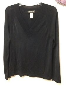 5af4aced7f Ladies sweater size large black JONES NEW YORK heavy tight knit long ...