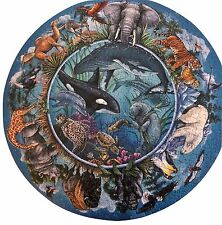 Jigsaw Puzzle Round Circle of Life Elaine Maier 20.5 Inches 500 Pieces Complete