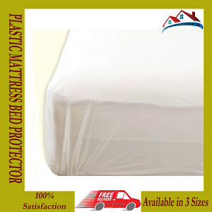 Image Is Loading NEW PLASTIC MATTRESS PROTECTOR BED WETTING SHEET COVER