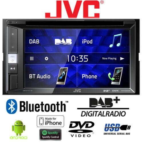 Autoradio jvc KFZ automóviles kit de integracion DAB Bluetooth CD//DVD USB android iphone