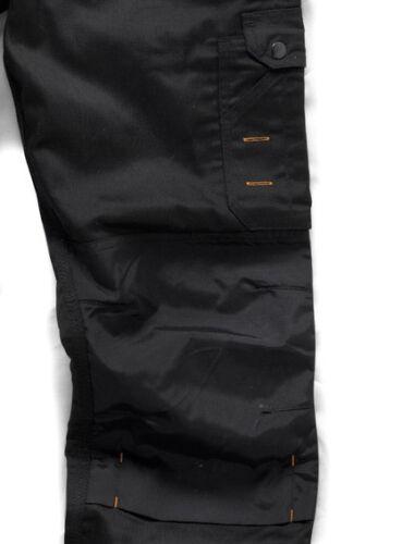 Scruffs WORKER PLUS TWIN PACK Black Mens Work Trousers Trade Hardwearing