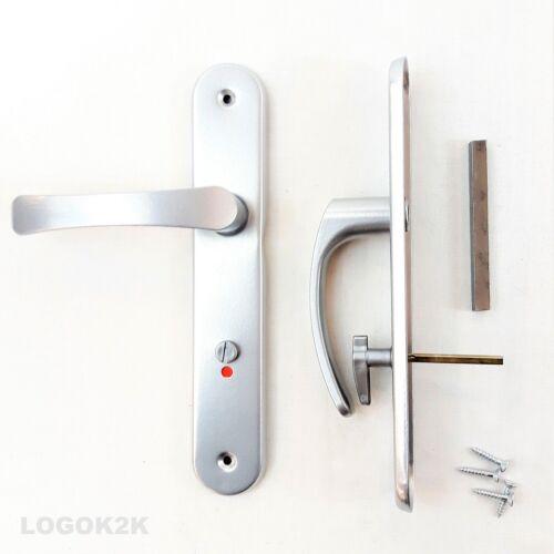 Levier de Longue Plaque de poignée de porte C de C 72 mm WC//Toilette Argent