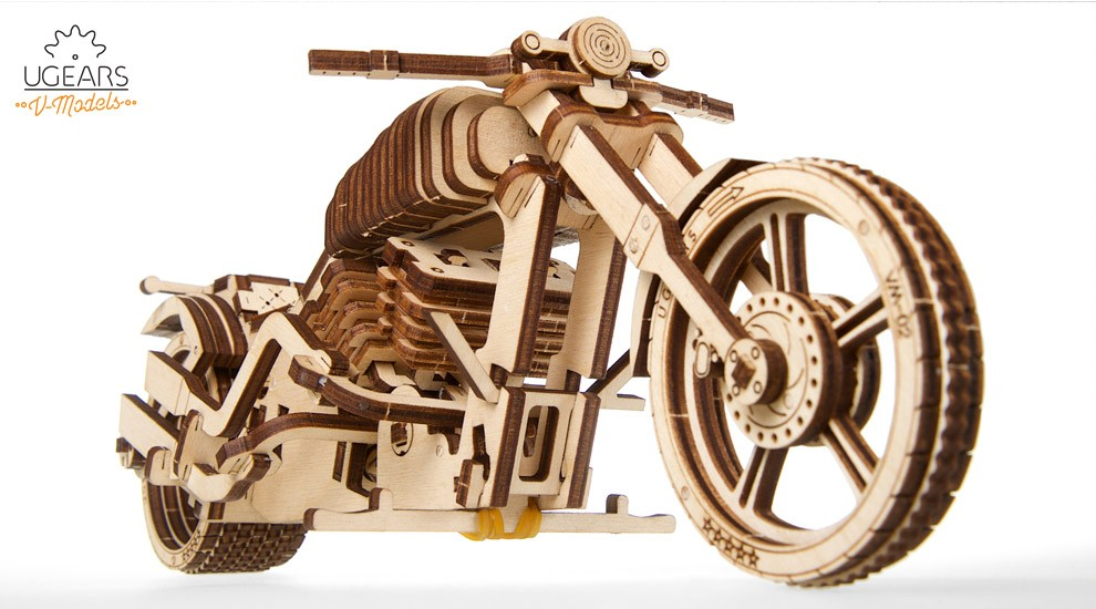 Mechanical UGEARS wooden 3D puzzle Model VM-02 Bike Construction Set